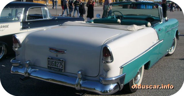 1955 Chevrolet Bel Air Convertible Coupe back