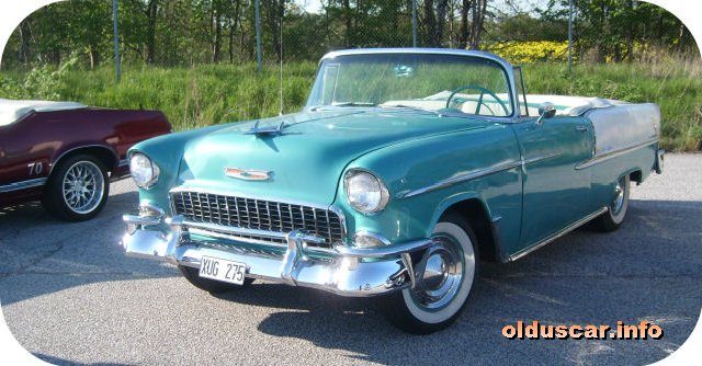 1955 Chevrolet Bel Air Convertible Coupe front