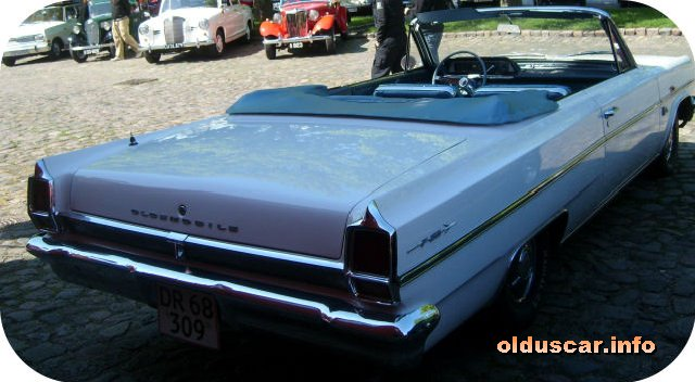 1963 Oldsmobile F-85 Deluxe Cutless Convertible Coupe back