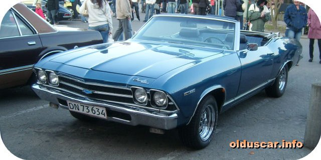 1969 Chevrolet Chevelle Malibu Convertible Coupe front