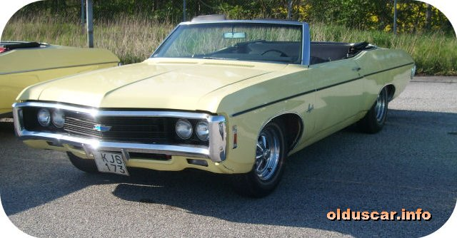 1969 Chevrolet Impala Convertible Coupe front
